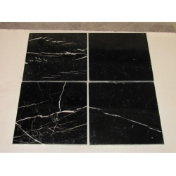 Nero marquina marble bathroom tiles