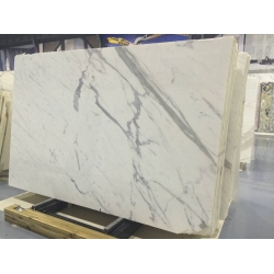 statuario white marble with grey veins