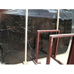 Brown tiny marble slabs customized size