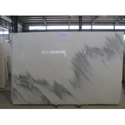 China polished blue sky white marble