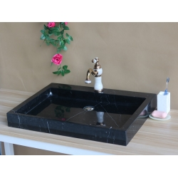 Black marquina marble sink and basin