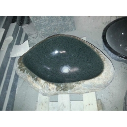 natural green granite bathroom sink and basin