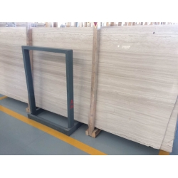 white wooden veins slabs