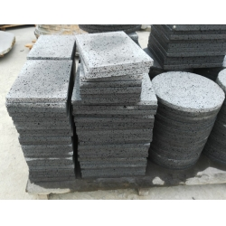 lava stone tiles used for walls or cooking