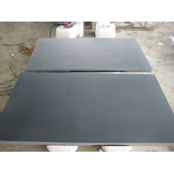 Honed Hainan black basalt tiles for floors